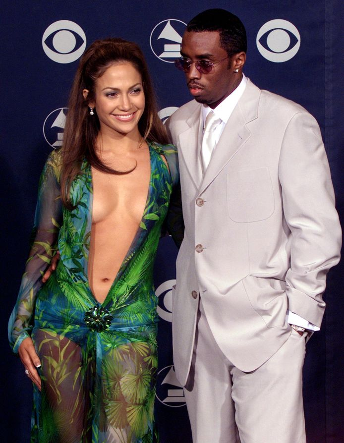 Shaun and Jennifer in her famous Versace dress