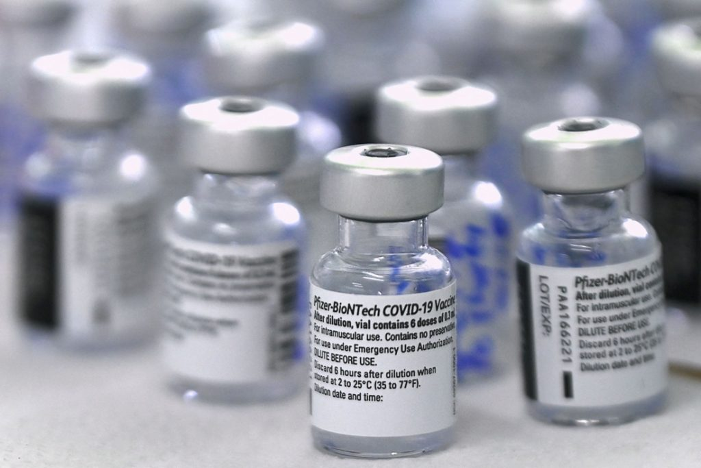 58 people may have received a very low dose of the Pfizer vaccine ... (DIST)