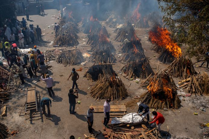 Dozens of funeral pyres to burn the victims.