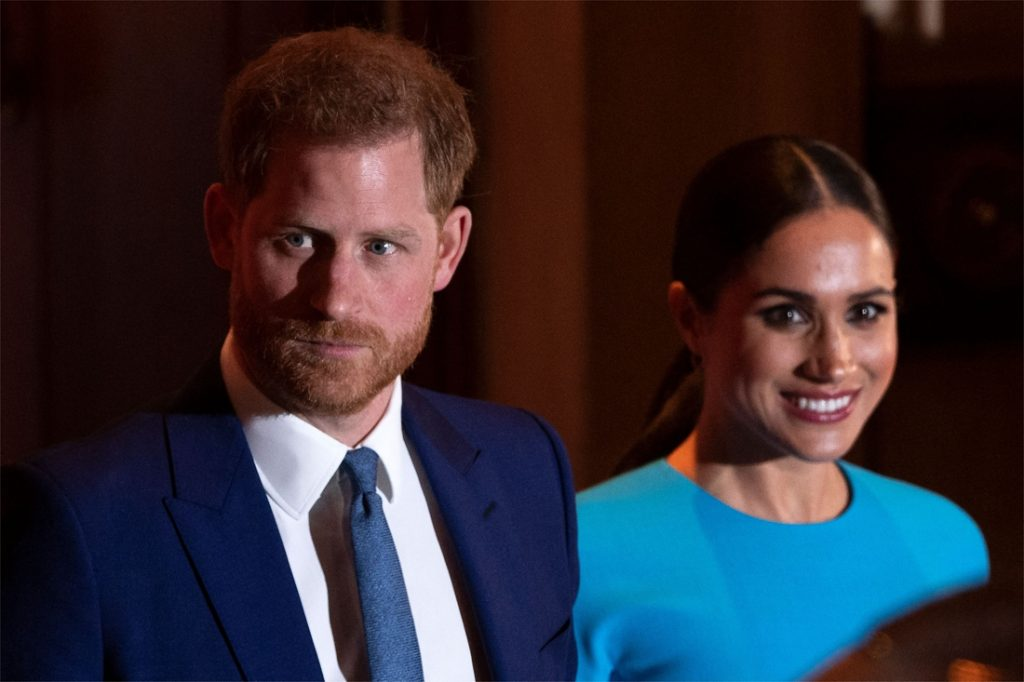 Harry and Meghan put their shoulders on the Vax Live party