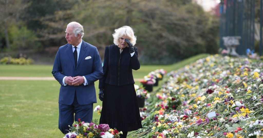 in the picture.  Tears for Philip: Prince Charles and Camilla were affected by many expressions of support from the people |  Property