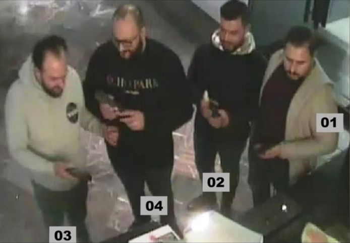 The four suspects are said to have explored the museum the day before the jewelry theft.