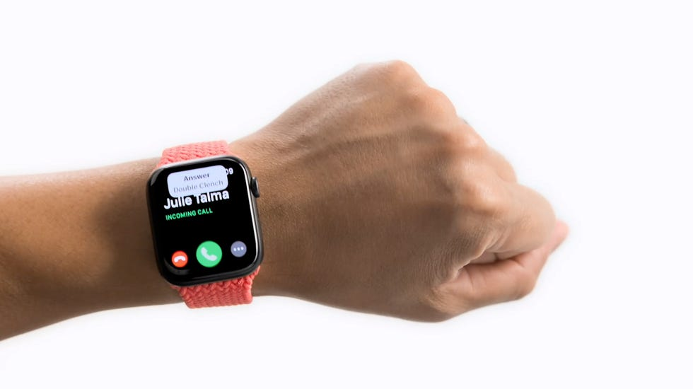 With the AssistiveTouch from Apple Watch, you can use it without touching the screen