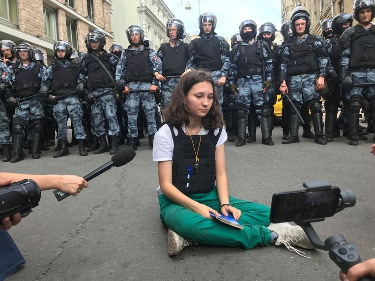 A student reading the constitution of Russian agents is sentenced to two years of restraint
