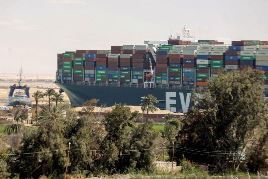 Ever Geffen still slips back after the Suez Canal blockage