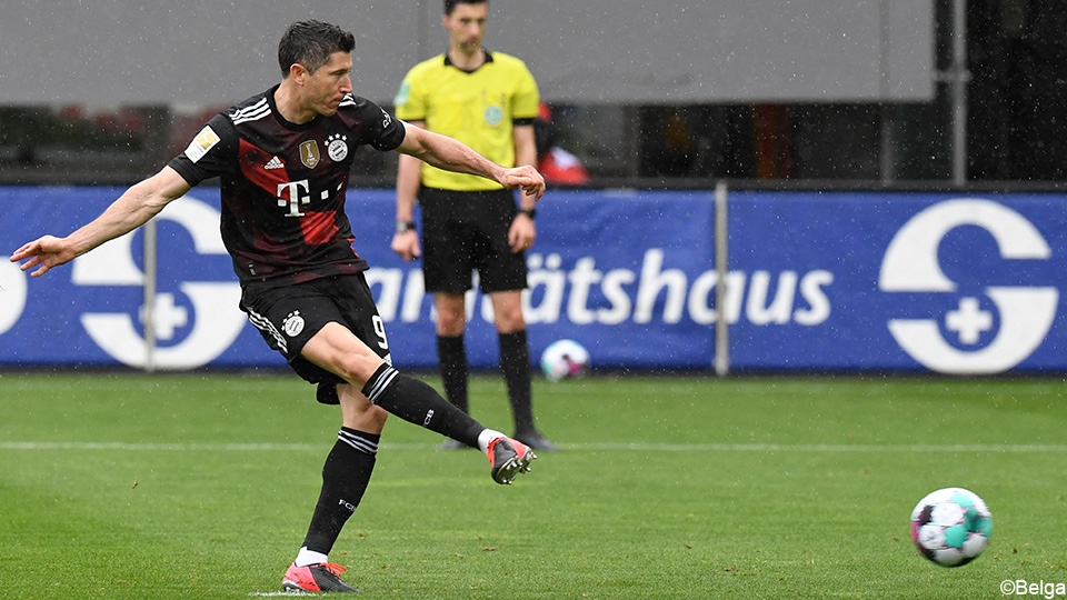 Lewandowski equates Gerd Muller |  Score the forty goals in the Bundesliga 2020/2021