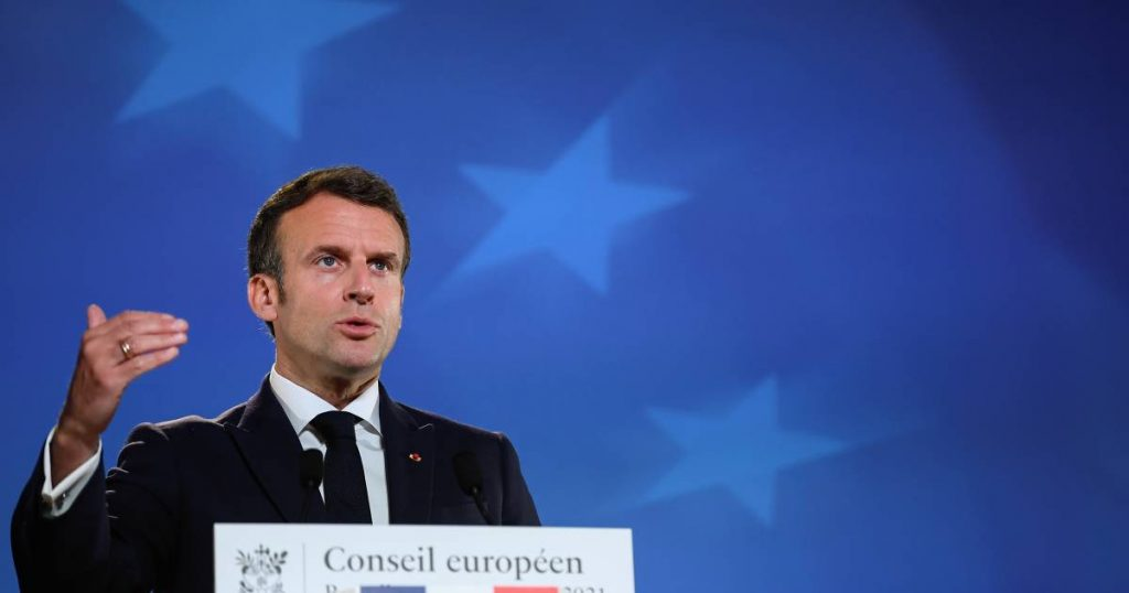 """Macron: The European Union must """"completely rethink"""" the relationship with Russia 