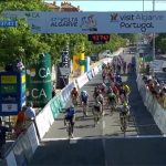 Sam Bennett races to victory in the opening stage of the role …