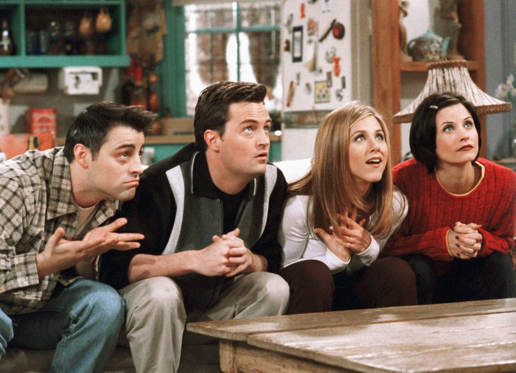 """The six """"friends"""" have not been together much in recent years"""