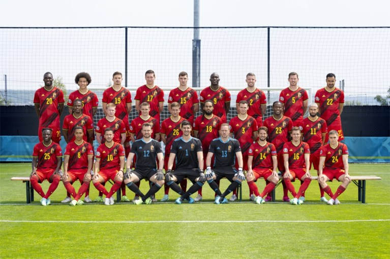 Here's the official photo of the Red Devils team for the European Championship (and the reserves allowed to form)