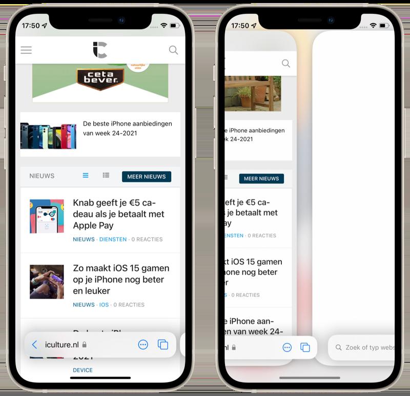 Address bar in Safari in iOS 15.