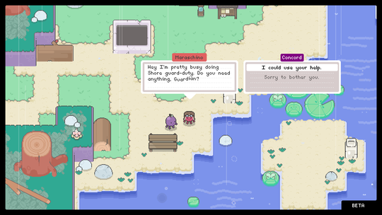 """As Concorde, the guardian of Grape Island in the video game """"Garden story"""" Coming to the Nintendo Switch and Steam this summer, you'll be fighting the Rot, which is just beginning to appear."""