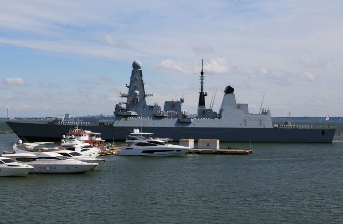 From HMS Defender.