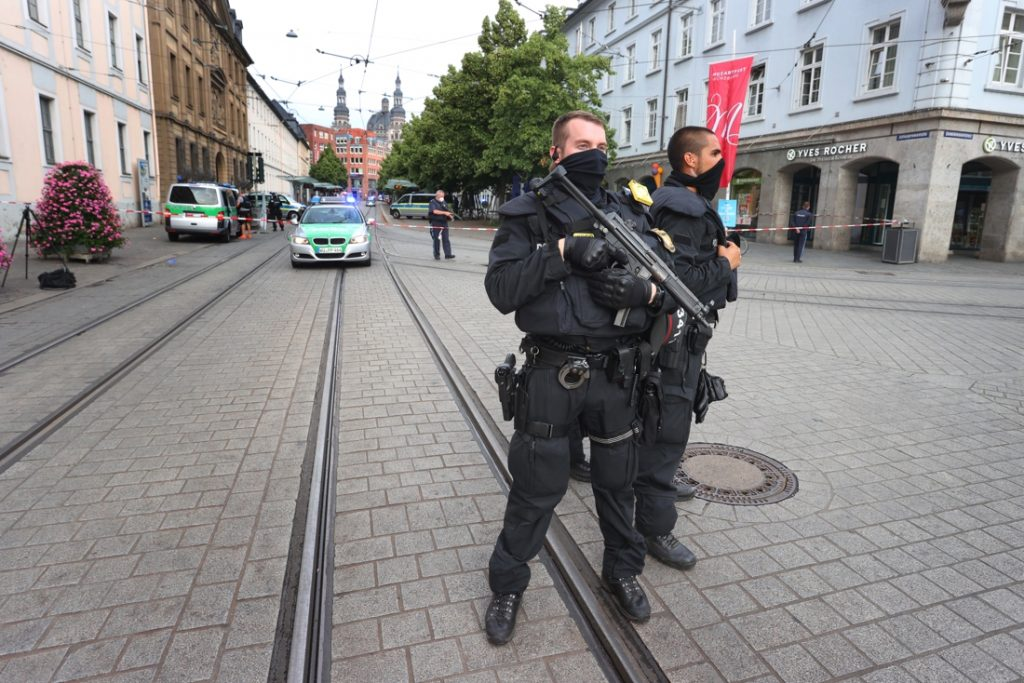 Three dead and several injured in a stabbing in Germany...