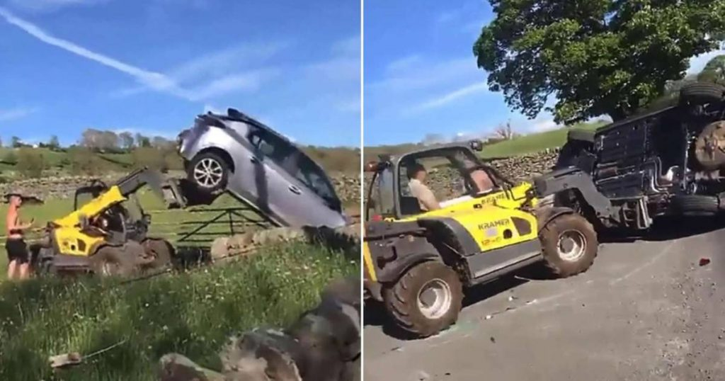 Angry farmer makes short work of badly parked car    The best thing on the web