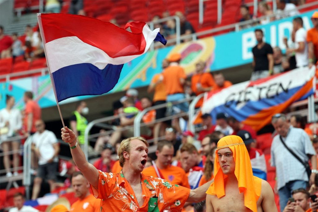 Banning rainbow flags in the Dutch fan zone in Budapest...