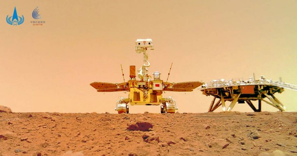 Chinese Mars rover publishes new images of a red planet, including a self-portrait    science and planet