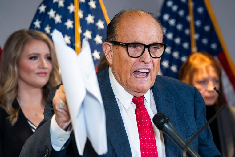 Giuliani was banned from working as a lawyer in New York because of lies about vote rigging