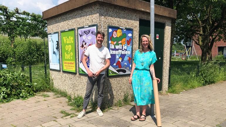 Initiatiefnemers Arnoud Evenhuis en Marloes Dekker (Foto: Joyce Kranenborg)