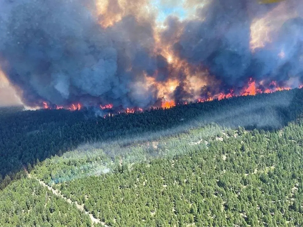 More than 130 fires in western Canada and California