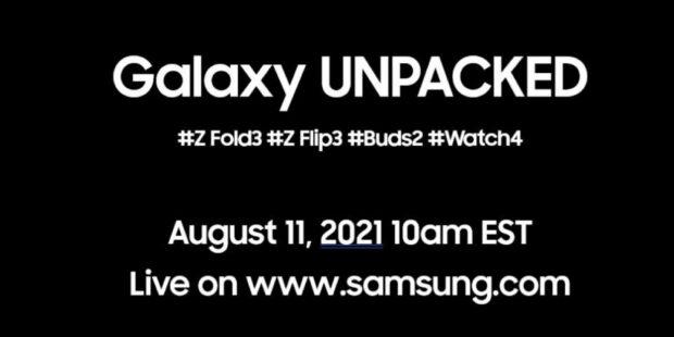 Galaxy Z Fold 3, Flip 3, Buds 2, Watch4 Coming August 11th