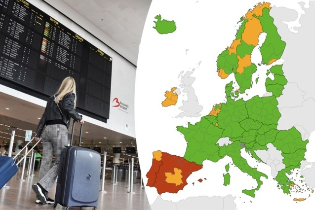 a map.  New orange areas on the European map, Portugal and ...