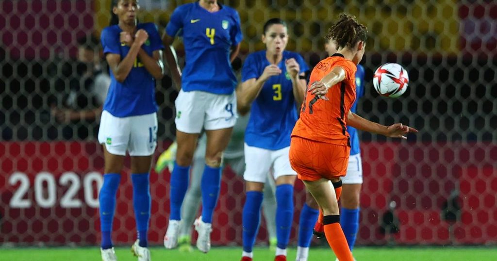 The goal scene between the lionesses and Brazil does not result in a winner    the Olympics