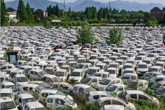 Factcheck: No, this is not a French cemetery for electric cars - Factcheck