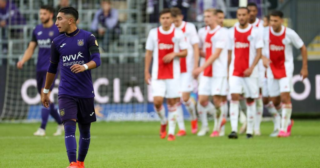 Anderlecht fails the last test before the start of the competition: Ajax are very strong in the party |  Jupiler Pro League