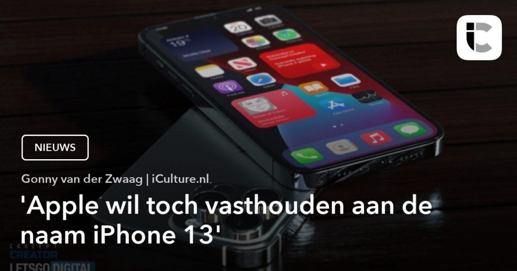 Apple still chooses the name iPhone 13 despite myths