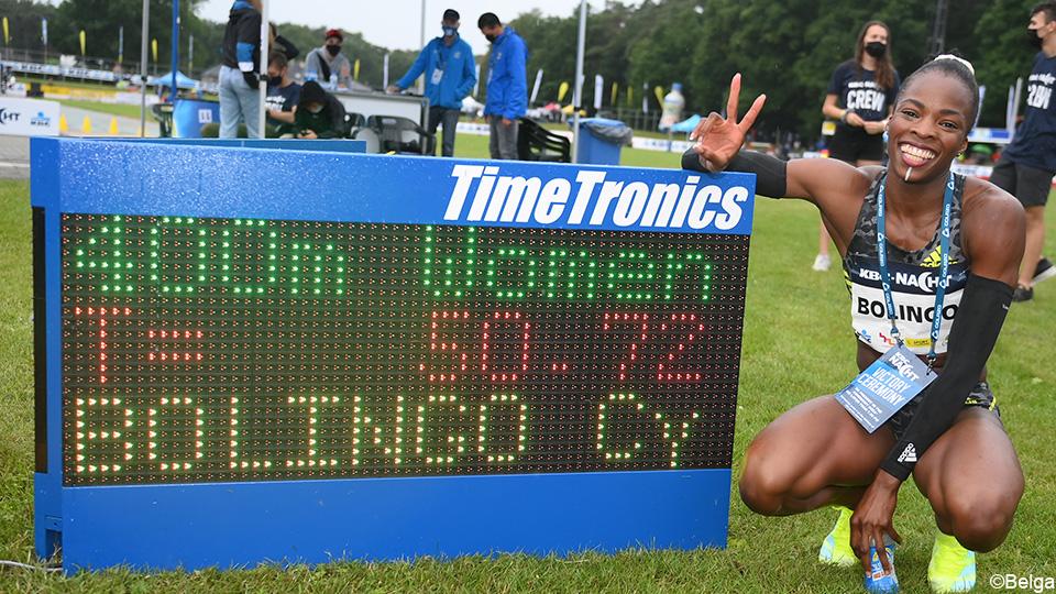 Bolingo once again improved her BR 400m on Athletics Night |  Athletics
