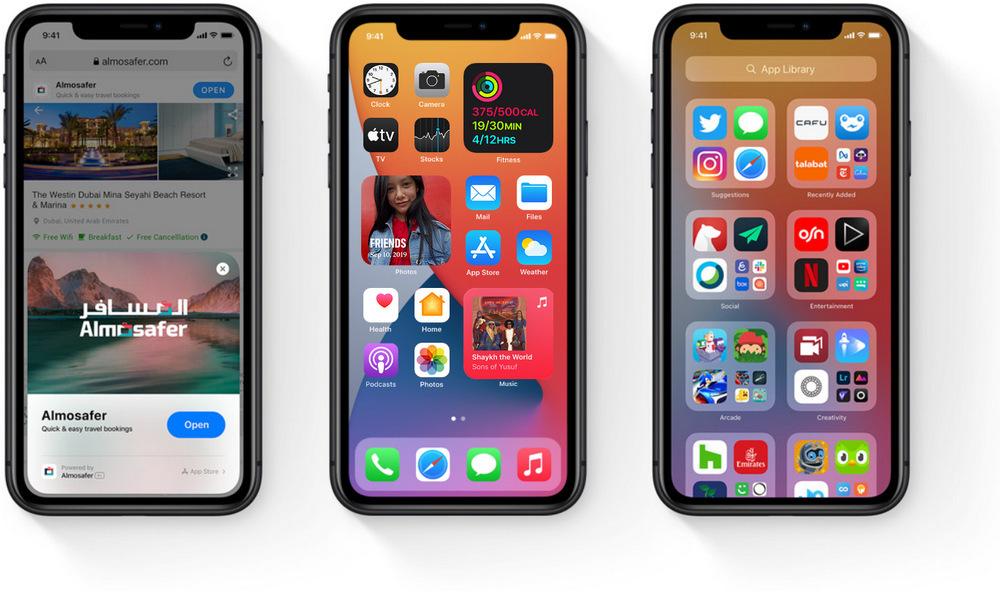 Apple iPhones meet iOS 14