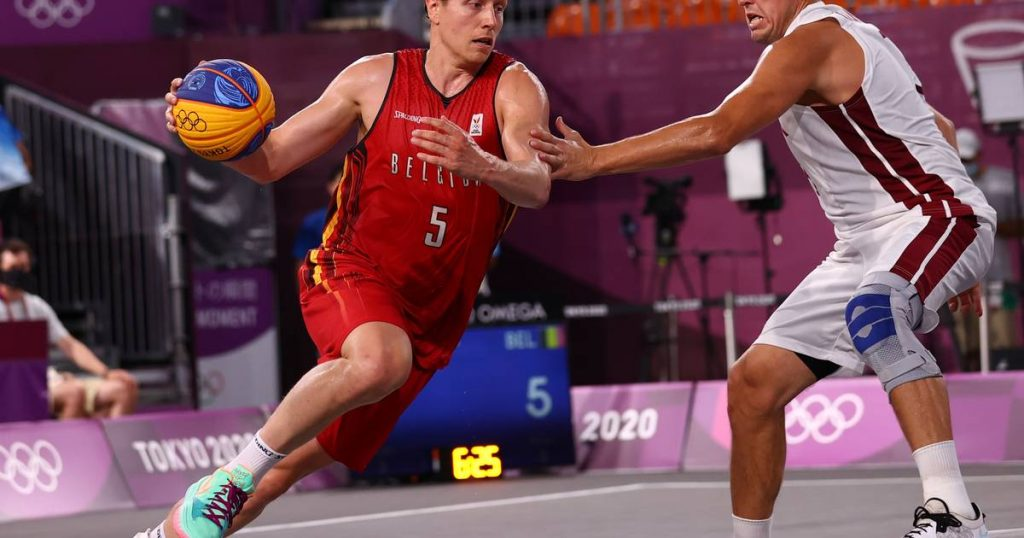 He lives.  Stunt on the spot by Belgium's 3x3 basketball team: Lions narrowly beat first country Latvia |  Olympic Games: Day Two