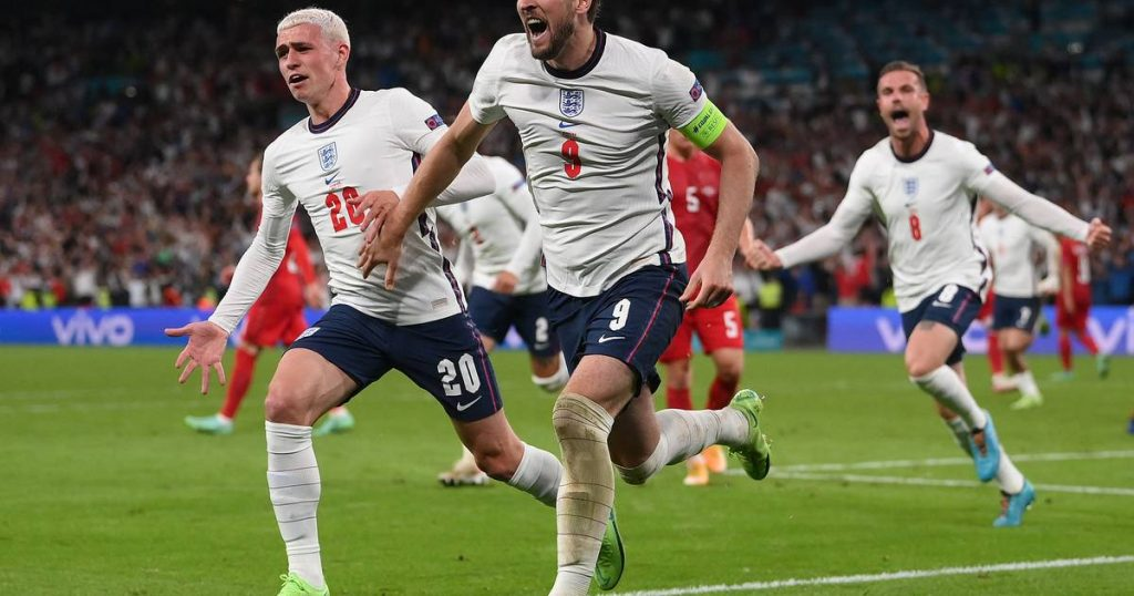 Kane causes Wembley to delirium, England beat Denmark and advance to the final |  European Football Championship (11 June - 11 July)