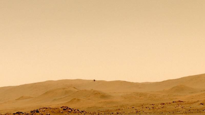 Small helicopters have traveled miles in the thin Martian air and reached a record level