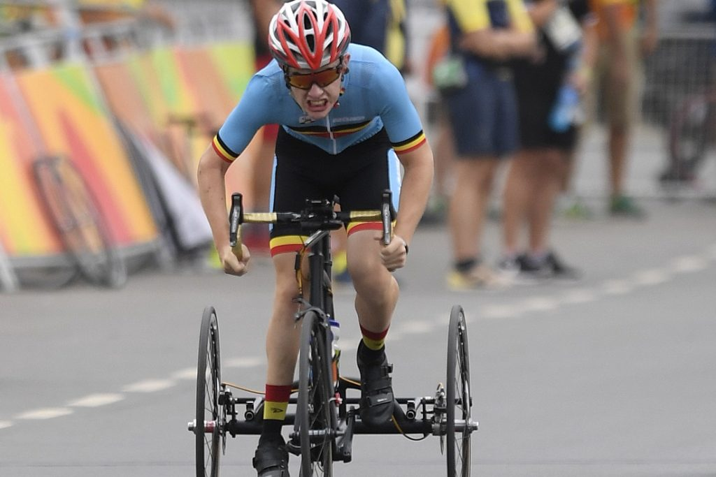The Belgian Paralympic sprinter, who won gold on the first day of ... (Herentals)