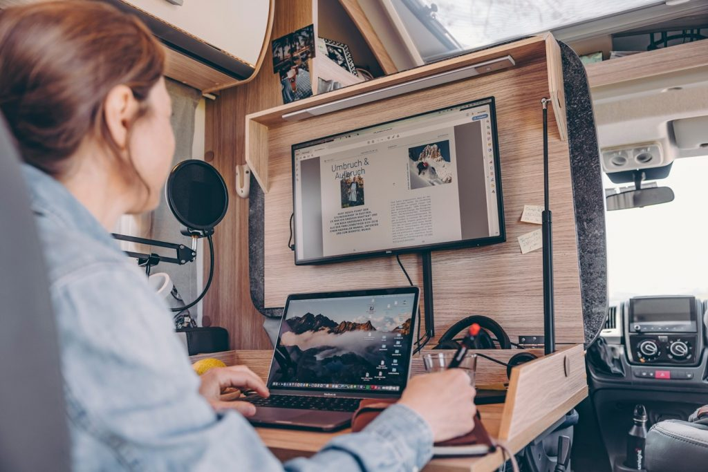 This makes the mobile home the ideal workplace for Digital Nomad