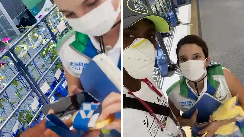 An Olympian surprised a woman who paid a taxi to the stadium with...