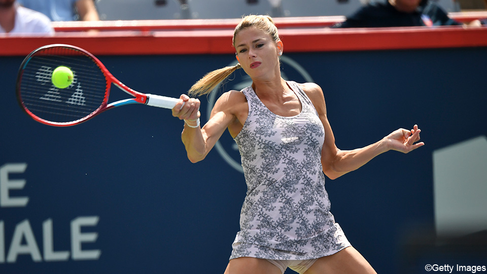 Camila Giorgi cries after the biggest tennis victory of her career    WTA - Montreal (Canada)