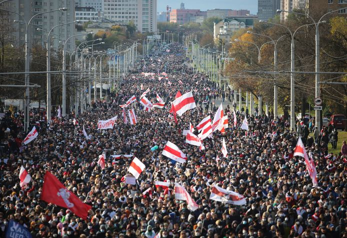Photo of protests in Belarus.