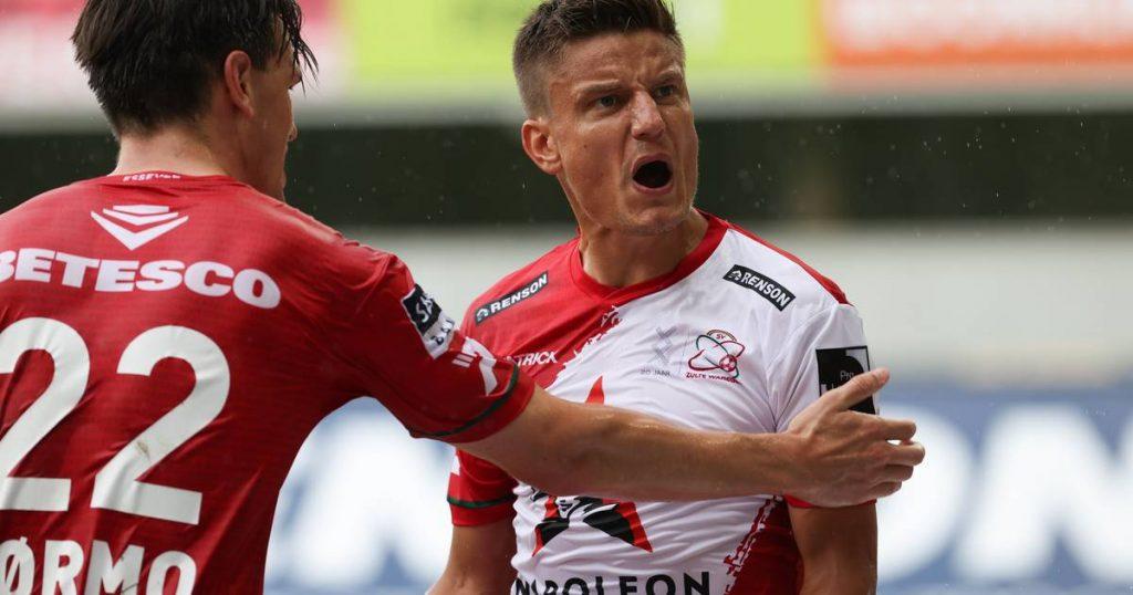 Gilly Vossen pulls Zolt Wargim's tie against undefeated Charleroi |  Jupiler Pro League