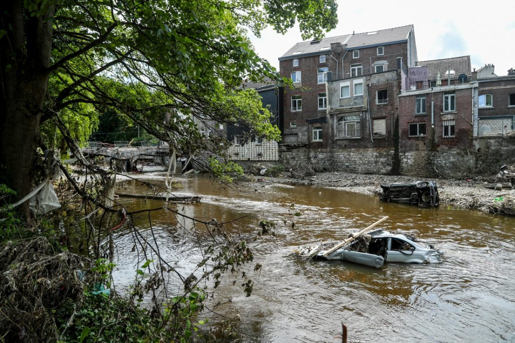 Increased flood risk due to climate change (Brussels)