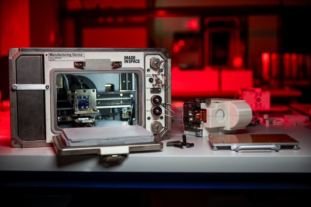 NASA is testing a 3D printer that uses moon dust to print in space