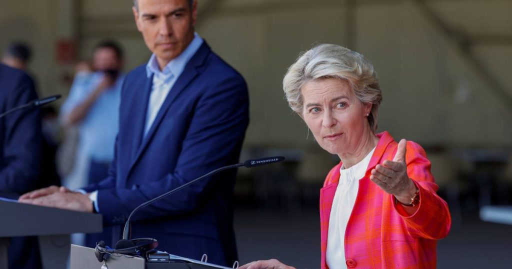 """Von der Leyen: """"The European Union is in contact with the Taliban, an agreement between member states to extend humanitarian aid"""" 