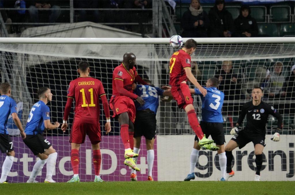 """REACTIES. Hans Vanaken en Thibaut Courtois tevreden met wedstrijd tegen Estland: """"Opdracht volbracht"""""""