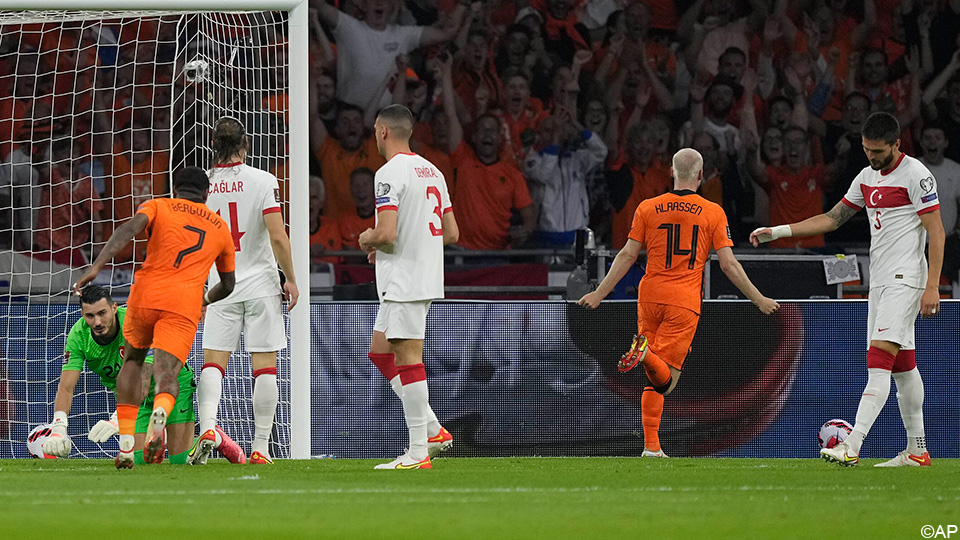 Live: Holland teeters on Turkey, which falls ten times before the end of the first half |  UEFA World Cup 2022 Qualifiers