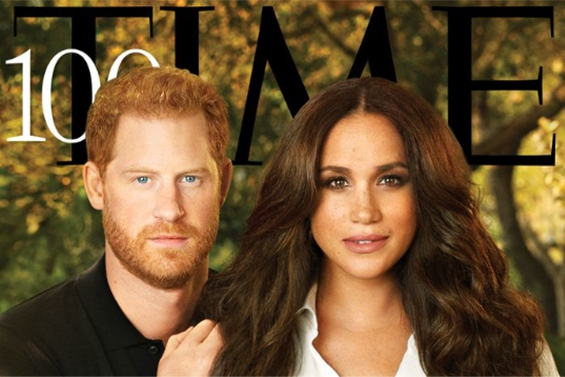 """Fun on a magazine cover with Prince Harry and Meghan: """"Hello..."""
