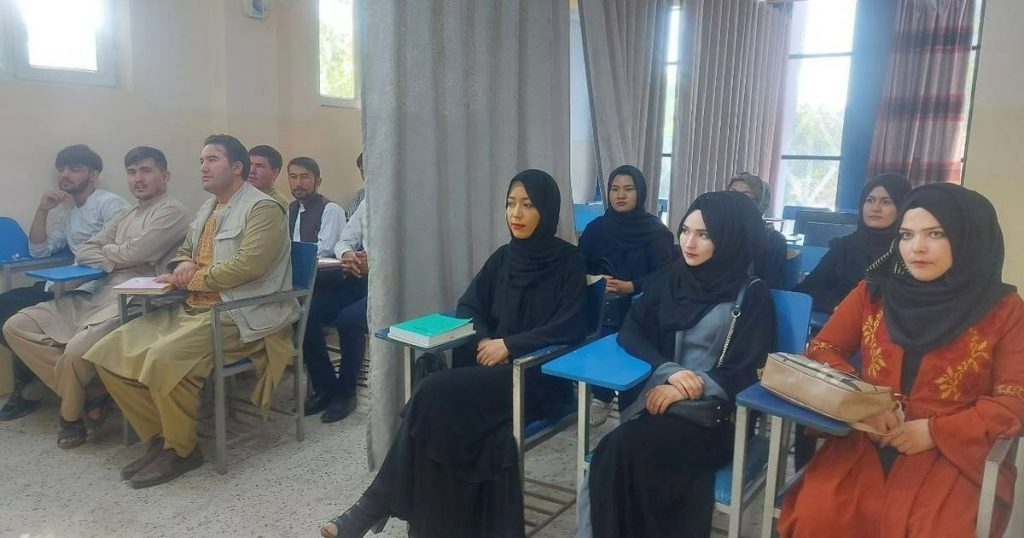 Afghan universities reopen: photos show the curtain separating male and female students |  Abroad
