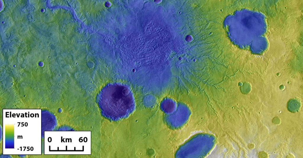 Mars emptying lakes formed - NRC