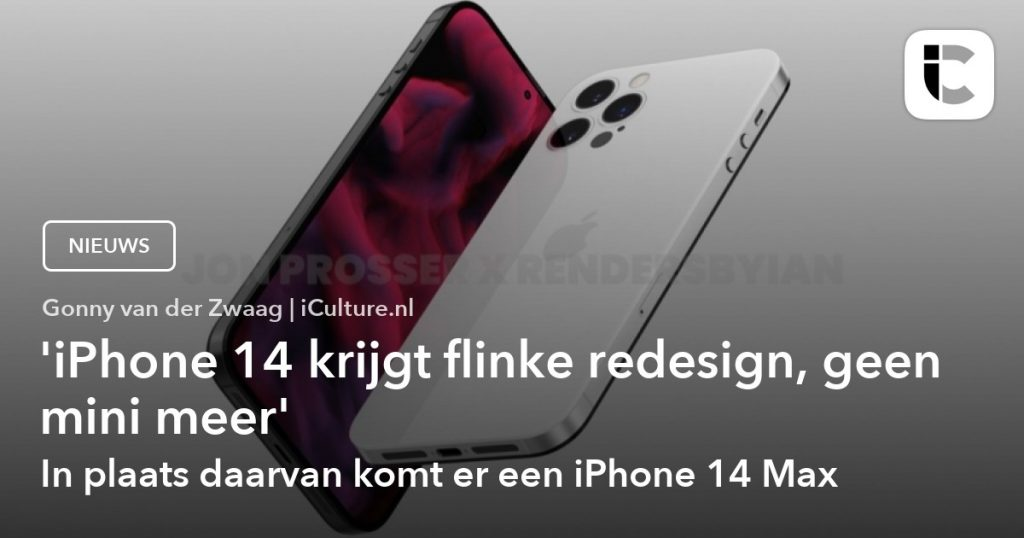 Redesigned iPhone 14, no more compact